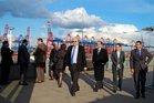 Besuch bei Eurogate, einem Logistikkonzern für Containerumschlag im Hamburger Hafen