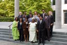 Gruppenfoto des ersten französischsprachigen Afrika-Lehrgangs