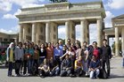 Gruppenfoto am Brandenburger Tor